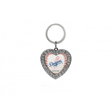 Los Angeles Dodgers Bling Rhinestone Heart Key Chain