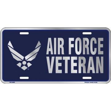 Air Force Veteran Metal License Plate