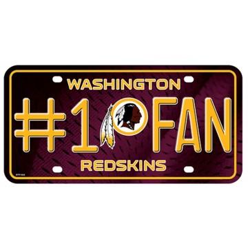 Washington Redskins #1 Fan License Plate