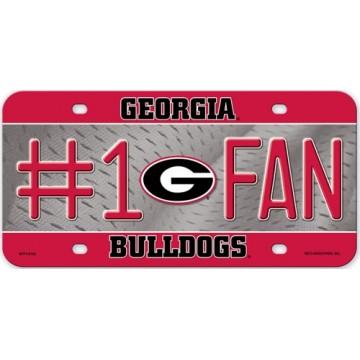 Georgia Bulldogs #1 Fan Metal License Plate