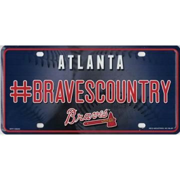 Atlanta Braves #BravesCountry Metal License Plate