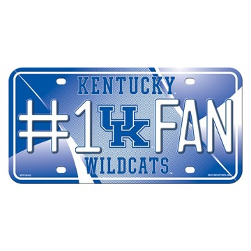 Kentucky Wildcats #1 Fan Metal License Plate