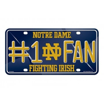 Notre Dame Fighting Irish #1 Fan License Plate