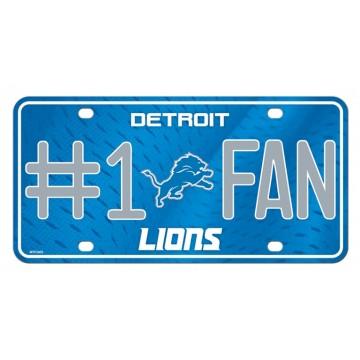 Detroit Lions #1 Fan Metal License Plate