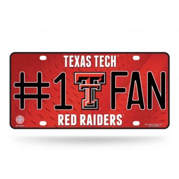 Texas Tech Red Raiders #1 Fan License Plate