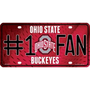 Ohio State Buckeyes #1 Fan License Plate