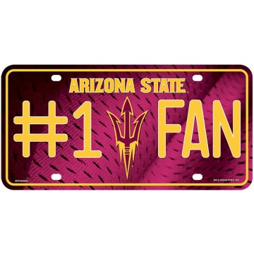 Arizona State Pitchfork #1 Fan License Plate