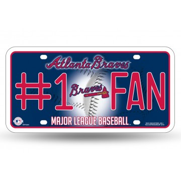 Atlanta Braves #1 Fan License Plate