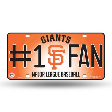 San Francisco Giants #1 Fan Metal License Plate