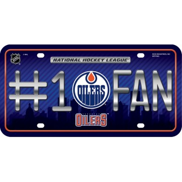 Edmonton Oilers #1 Fan License Plate