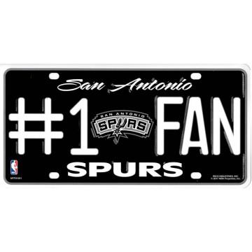 San Antonio Spurs #1 Fan License Plate