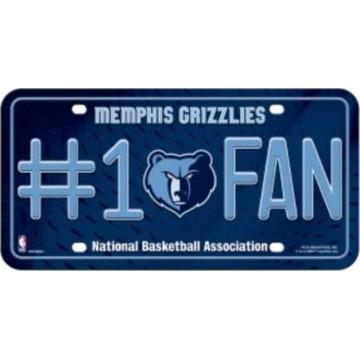 Memphis Grizzlies #1 Fan License Plate