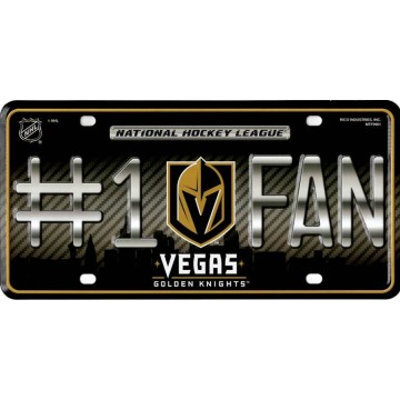 Las Vegas Golden Knights #1 Fan Metal License Plate
