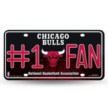 Chicago Bulls #1 Fan Glitter License Plate