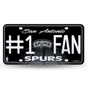 San Antonio Spurs #1 Fan Glitter License Plate
