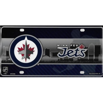 Winnipeg Jets Metal License Plate