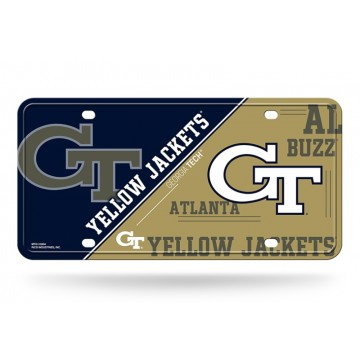 Georgia Tech Yellow Jackets Metal License Plate