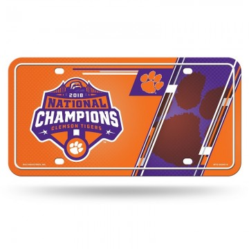 Clemson Tigers 2018 National Champions Metal License Plate
