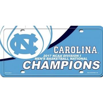 North Carolina Tar Heels 2017 Champions Metal License Plate