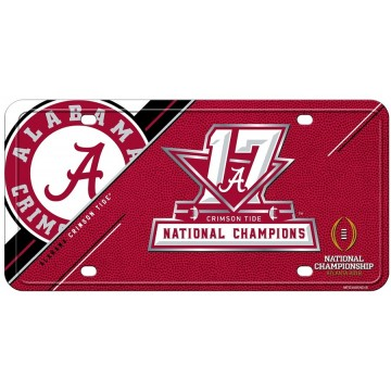 Alabama Crimson Tide 2018 National Champs Metal License Plate