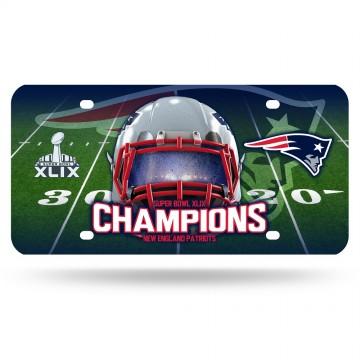 New England Patriots Super Bowl Champs Metal License Plate