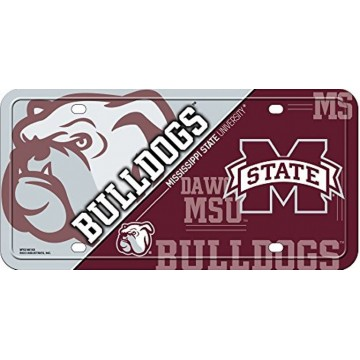 Mississippi State Bulldogs Metal License Plate