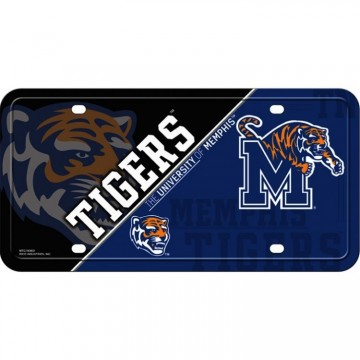 Memphis Tigers Metal License Plate