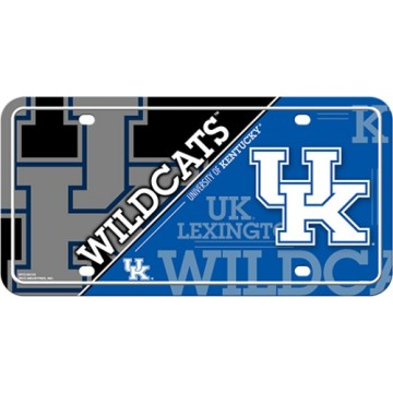 Kentucky Wildcats Metal License Plate