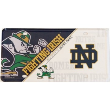 Notre Dame Fighting Irish Metal License Plate