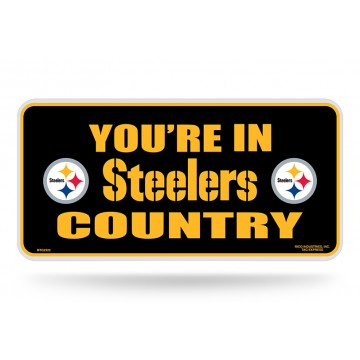 You're In Steeler Country Metal License Plate