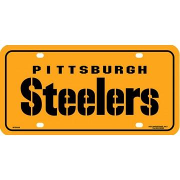 Pittsburgh Steelers Yellow Metal License Plate #2