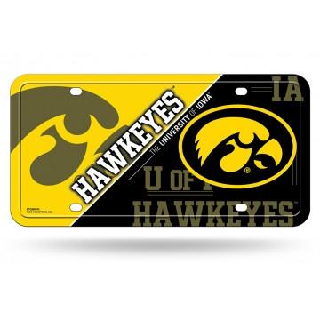Iowa Hawkeyes Metal License Plate