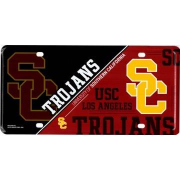 Southern California Trojans Metal License Plate