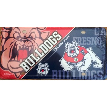 Fresno State Metal License Plate