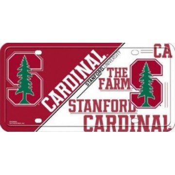 Stanford Cardinal Logo Metal License Plate