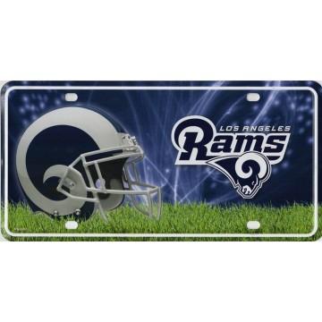 Los Angeles Rams Metal License Plate