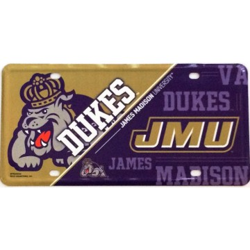 James Madison Dukes Metal License Plate