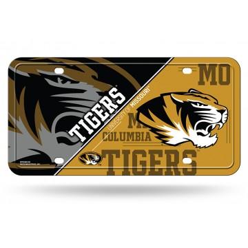 Missouri Tigers Metal License Plate