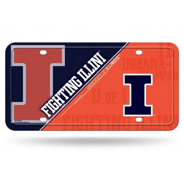 Illinois Fighting Illini Metal License Plate