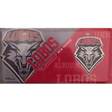 New Mexico Lobos Metal License Plate