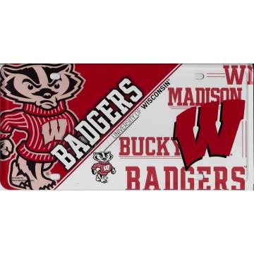 Wisconsin Badgers Metal License Plate