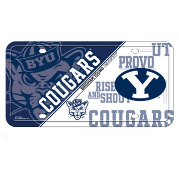 Brigham Young Cougars Metal License Plate