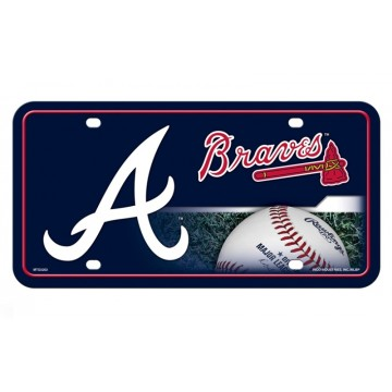 "Atlanta Braves ""A"" Metal License Plate"