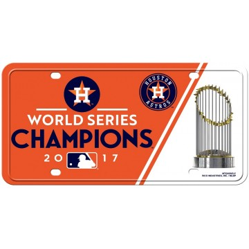 Houston Astros World Series Champs Metal License Plate