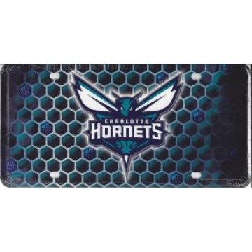 Charlotte Hornets Metal License Plate