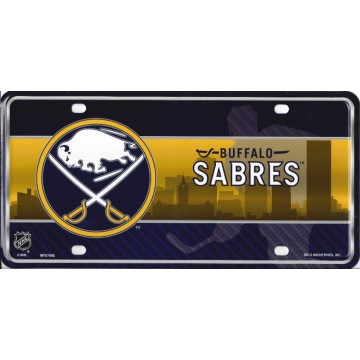 Buffalo Sabres Metal License Plate