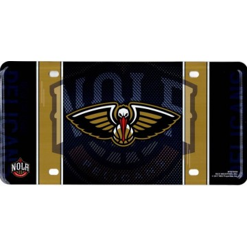 New Orleans Pelicans Metal License Plate