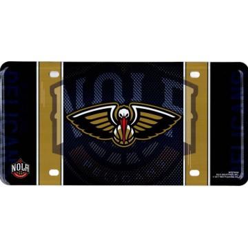 New Orleans Pelicans Metal License Plate