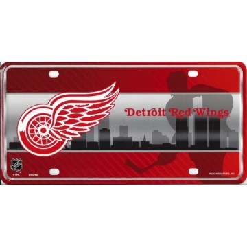 Detroit Red Wings Metal License Plate