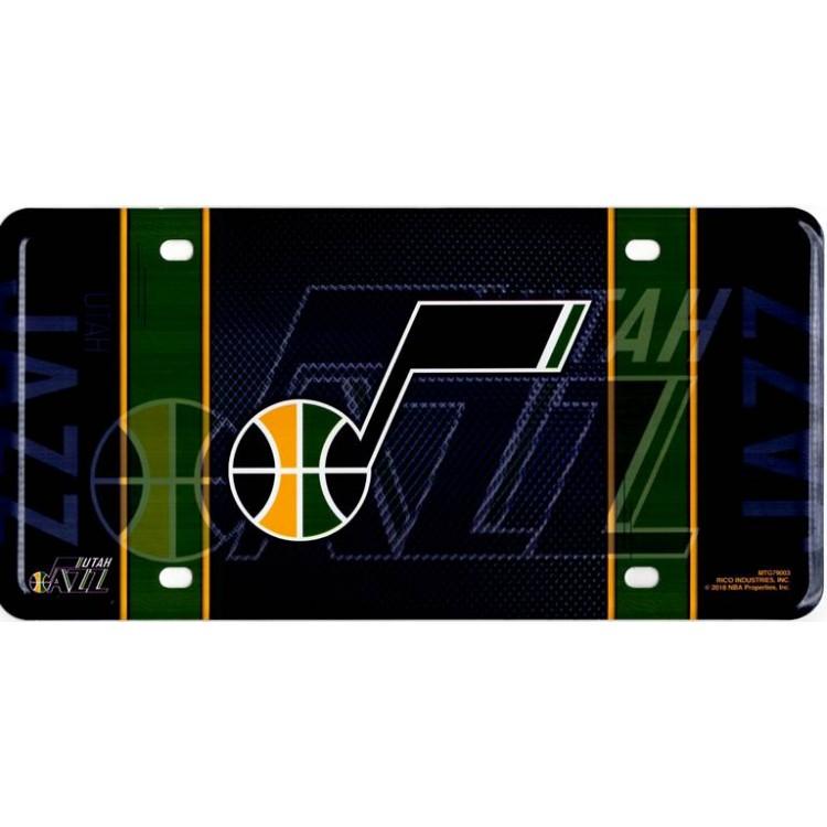 Utah Jazz Metal License Plate